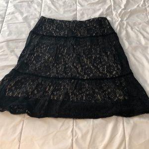 Lace black skirt